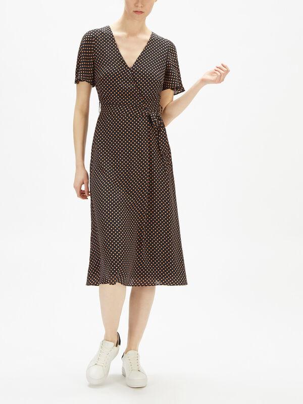 Light Wrap Front Dress