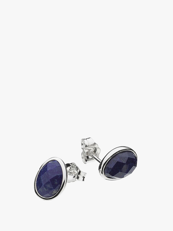 Coast Pebble Lapis Lazuli Stud Earrings