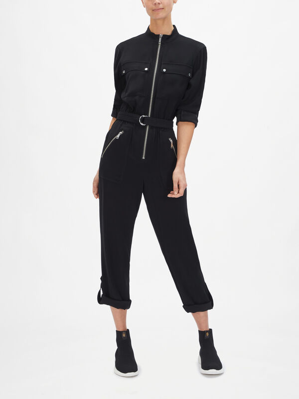 Sporty Zip Jumpsuit