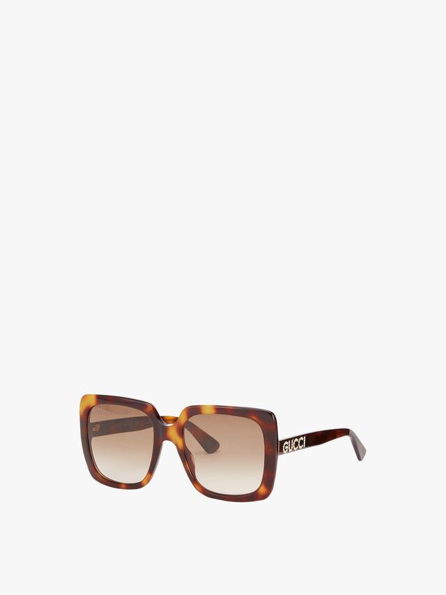 Square Shaped Frame Acetate Sunglasses