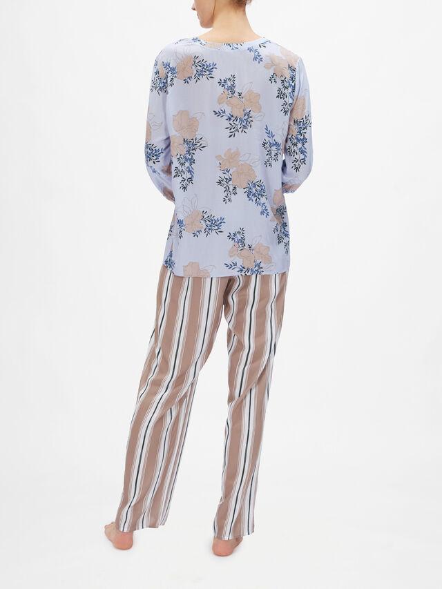 Sleep & Lounge Woven Long Sleeve Top