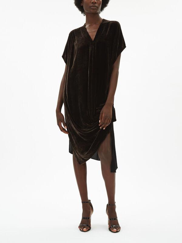 Velvet Asymmetrical Dress