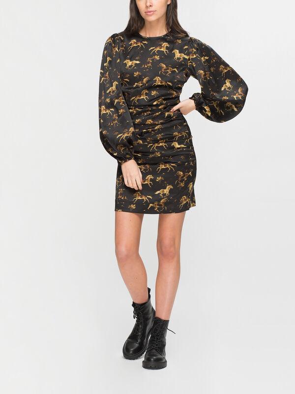 Silk Stretch Satin Mini Dress