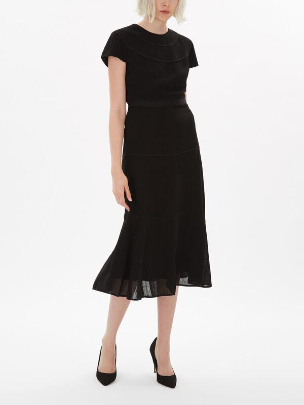 Short Sleeve Tiered Midi Dress