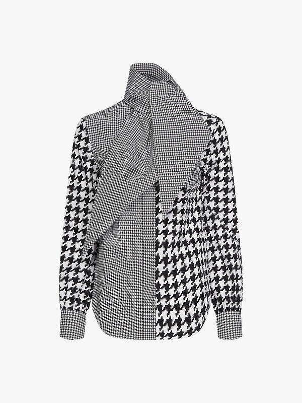 Zendaya Fitted Houndstooth Shirt