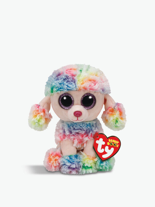 Rainbow Poodle Beanie Boos