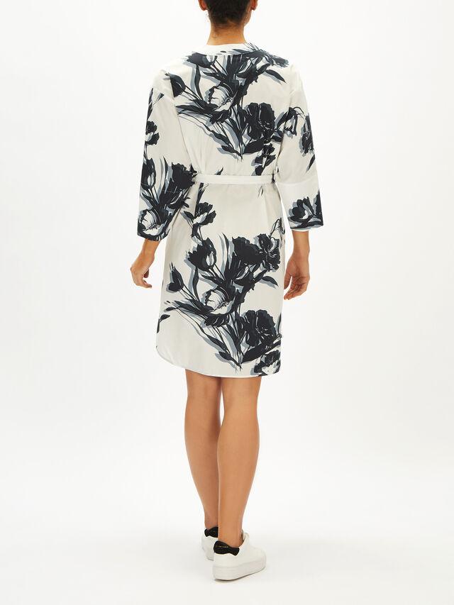 Floral Print Tie Detail Dress