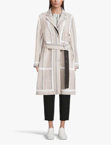 Fine-Stripe-Linen-Cotton-Reversible-Coat-w-Belt-Peak