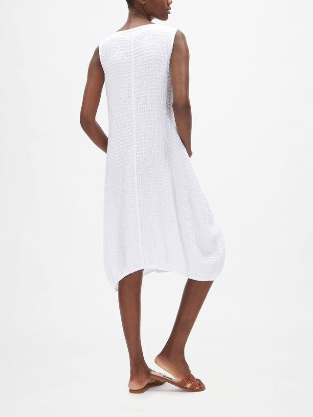 Linen Dress with Diagonal Side Pockets