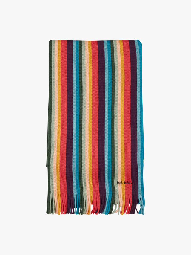 Artist Knit Stripe Scarf
