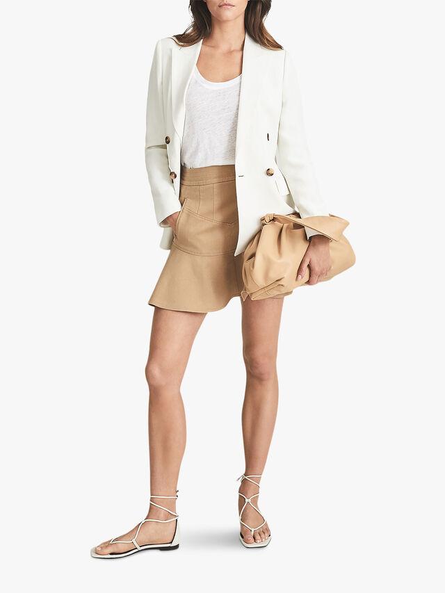 Luna Mini Skirt With Frill Hemline