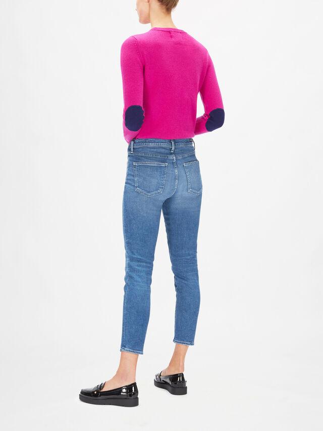 Rocket Crop Mid Rise Skinny Jeans