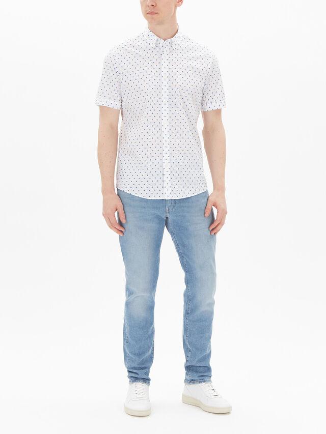 Slim Dot Print Shirt