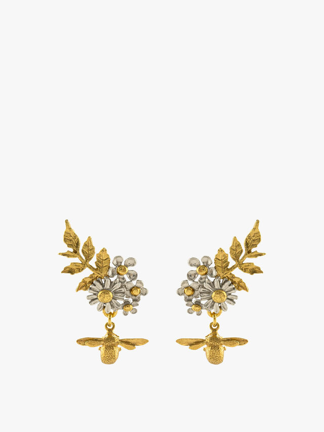 Posy Cluster Earrings with Bee