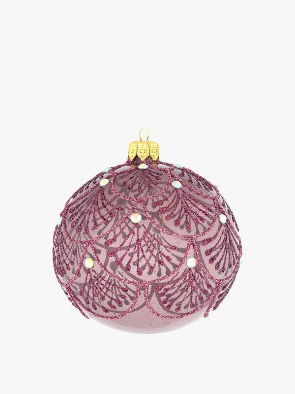 Glittery Fan Christmas Bauble