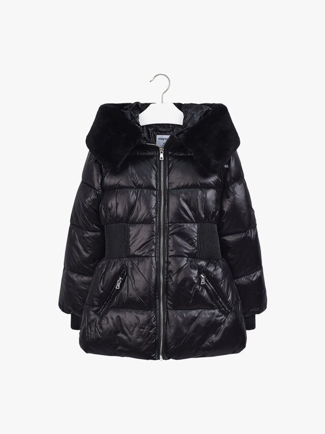 Fitted Hooded Puffa Jacket