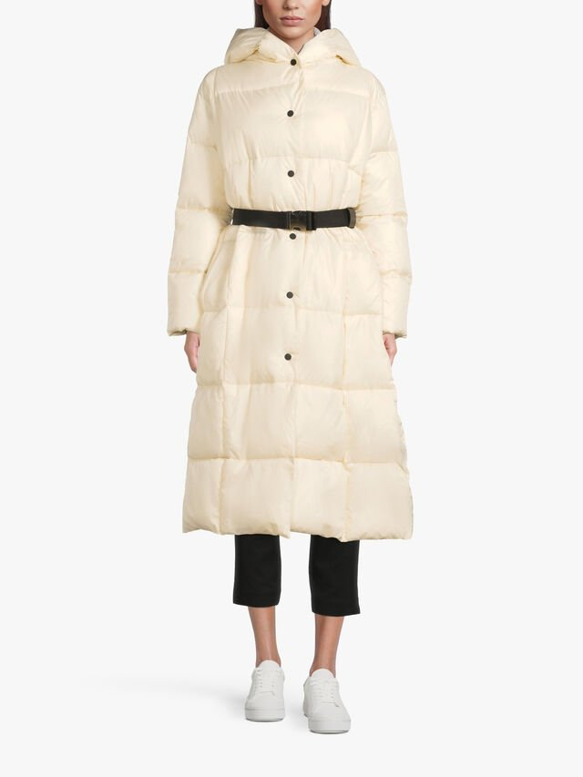 Belted Long Padded Coat
