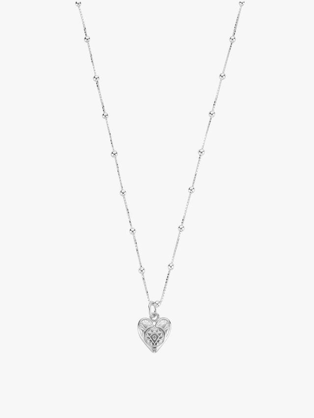 Patterned Heart Pendant Necklace