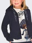 Flared Hooded Sweatshirt