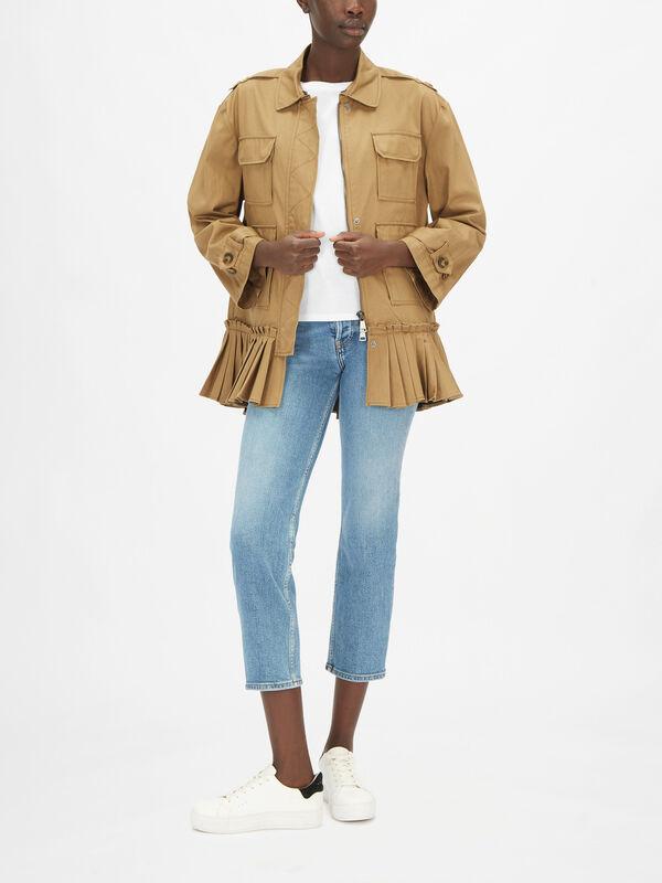 Short Peplum Detail Jacket