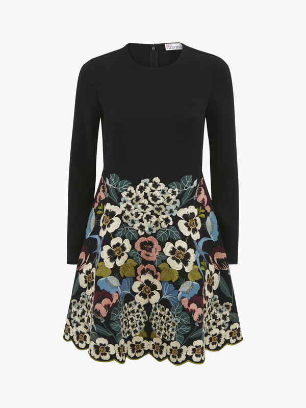 Embroidered Skirt Dress