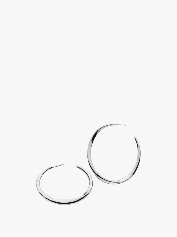 Bevel Curve Hoop Earrings