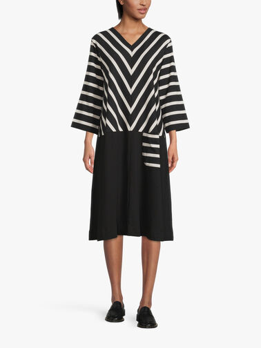 Nelena-Mono-Stripe-Mix-Dress-1004368