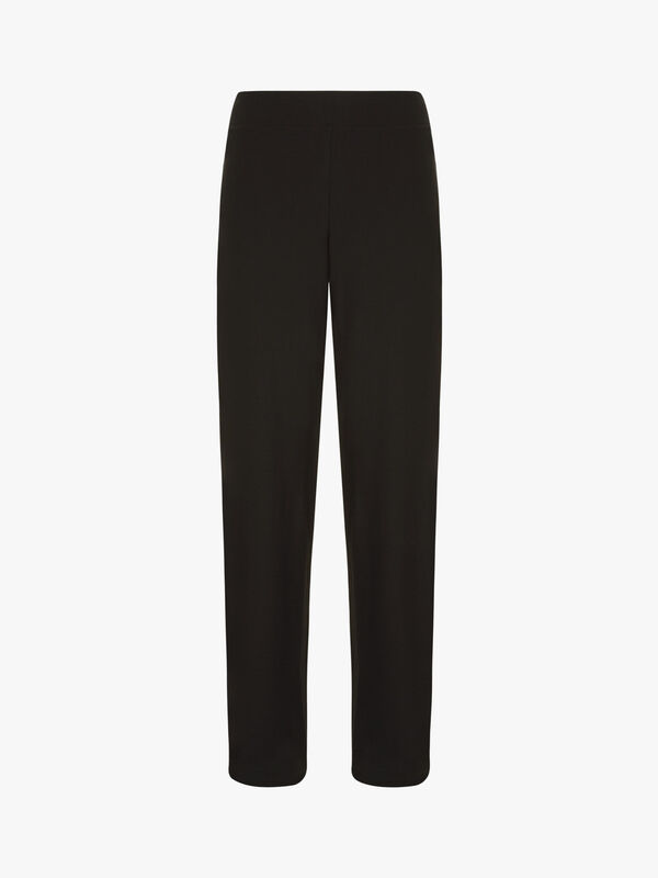 Stretch Crepe Straight Trousers