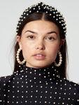 Velvet Acrylic Pearls Headband