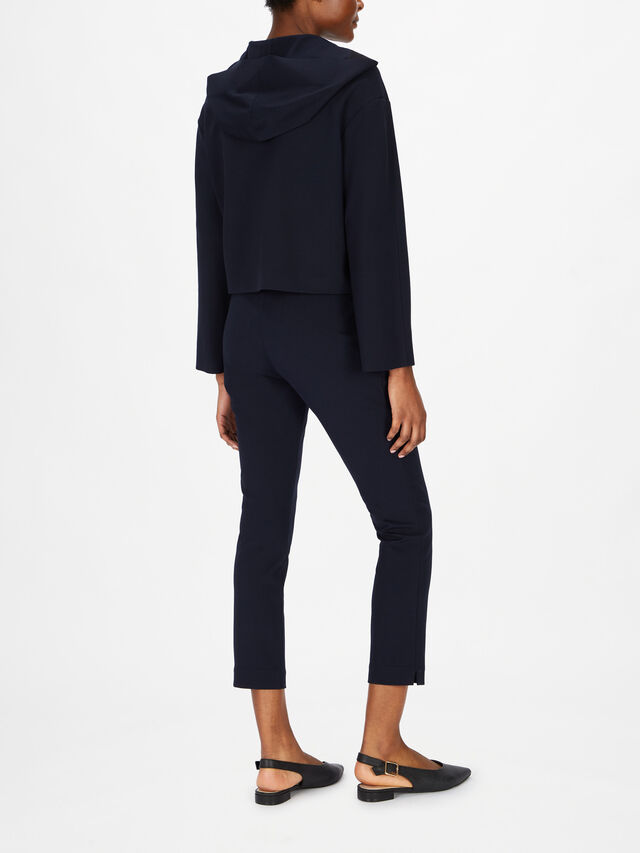Cropped Hooded Jacket With Front Pockets
