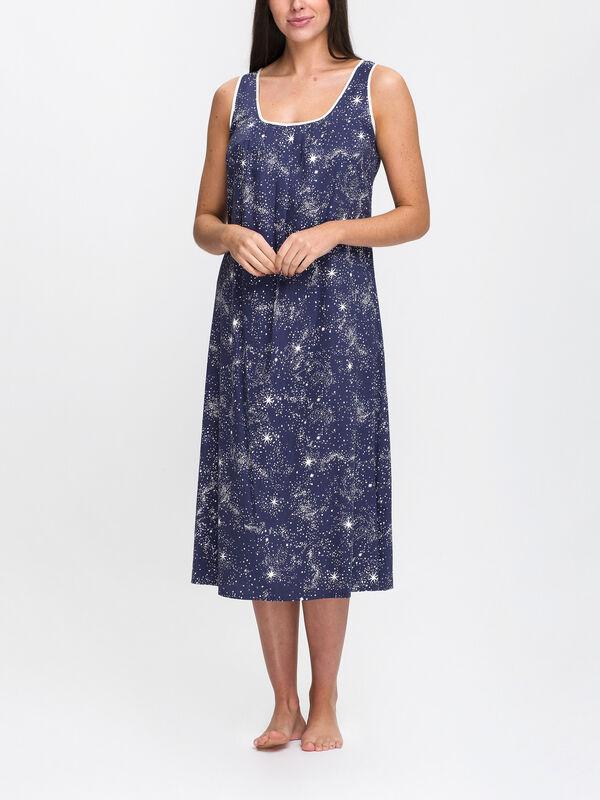 Stella Celestial Print Long Nightdress