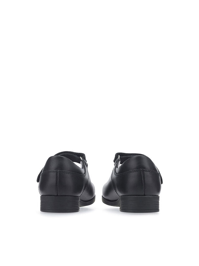 Samba Black Leather School Shoes