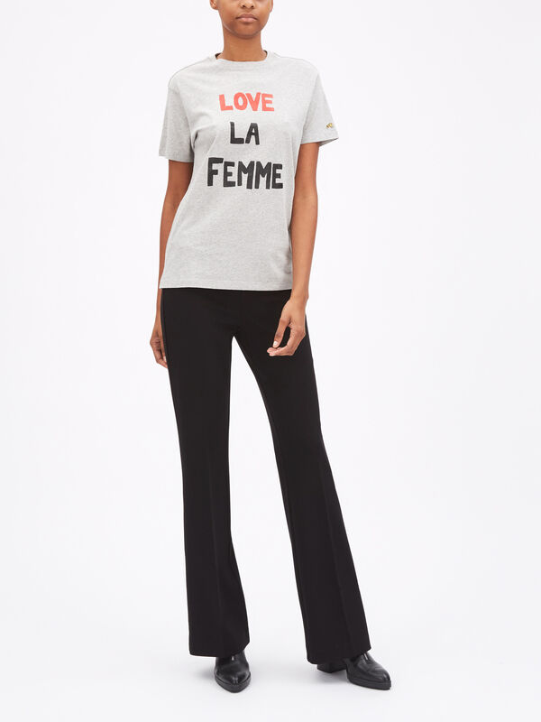 Love La Femme Cotton T-Shirt