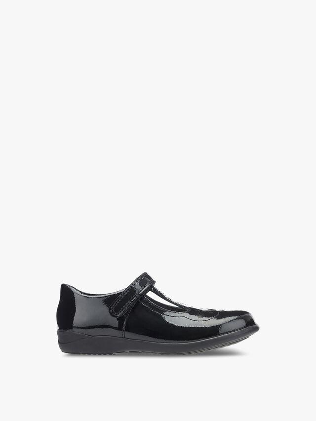 Poppy Black Patent School Shoes