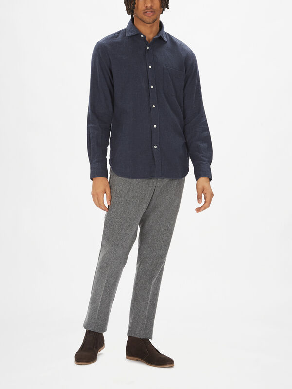 Paul Solid Flannel Shirt