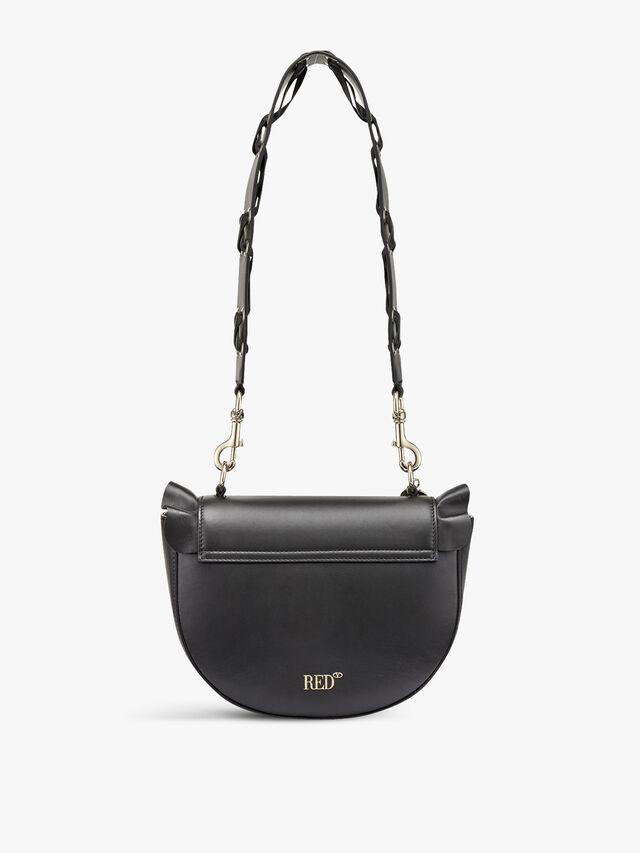 Frill  Half Moon Shoulder Bag