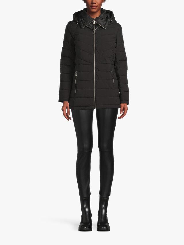 Short Zip Up Quilted Coat