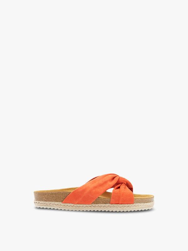 Bryony Orange Knot Sandals