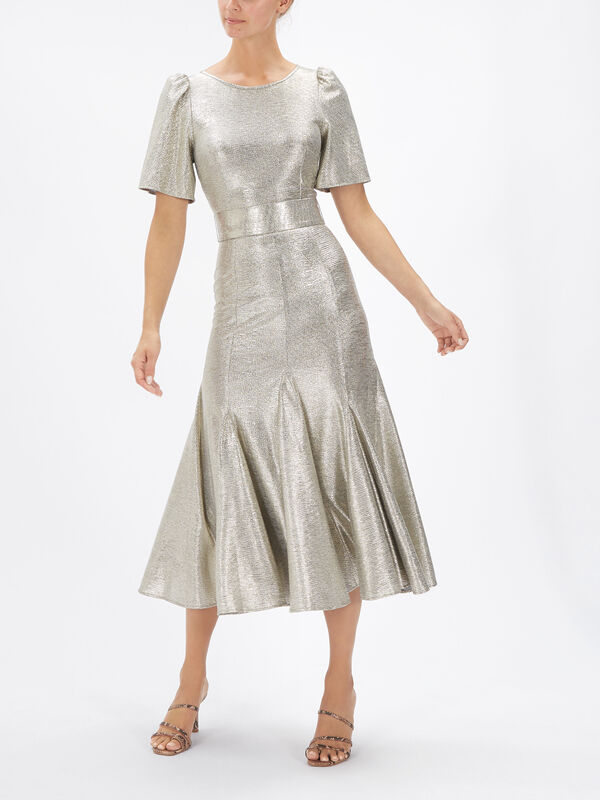 Metallic Jersey F&F Midi Dress