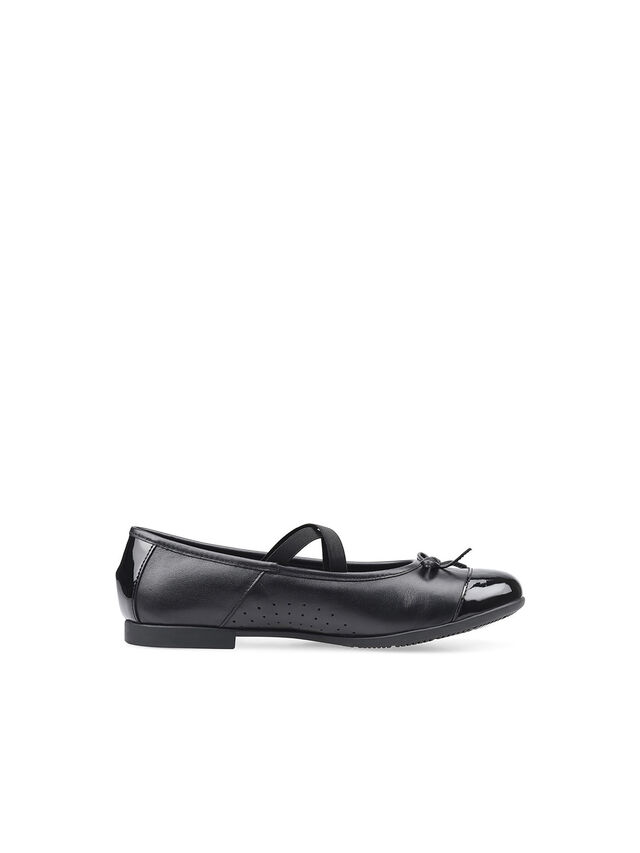 Idol Black Leather School Shoes