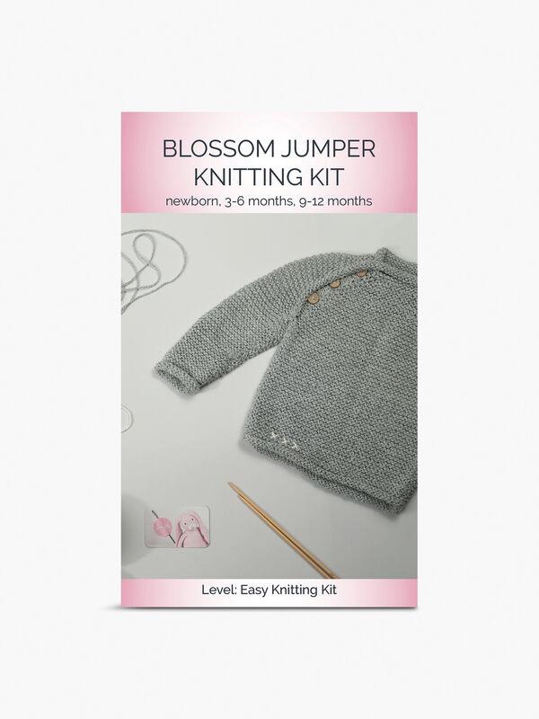 Blossom Jumper Knitting Kit 3-6 months