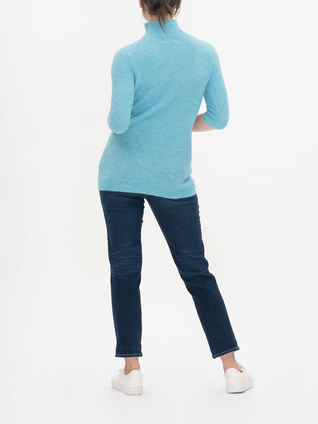 Twisted Neckline Soft Wool Knitted Top