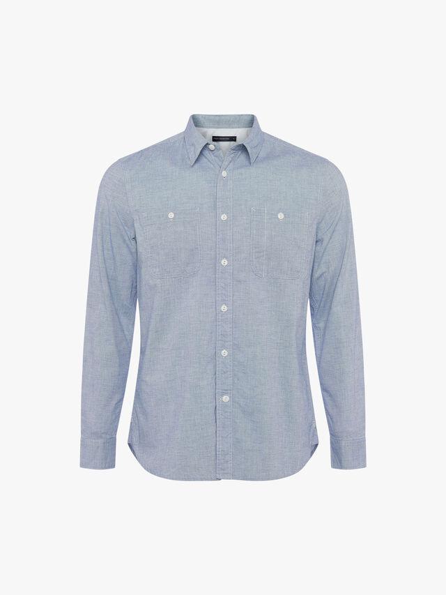 Workwear Oxford Chambray Long Sleeve Shirt