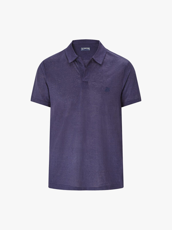 Solid Linen Jersey Polo