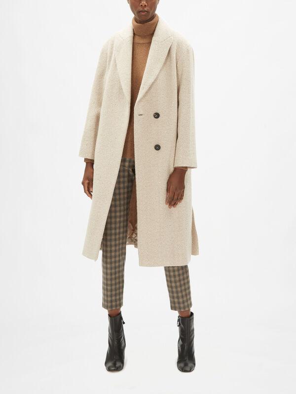 Tie Waist Sparkle Coat