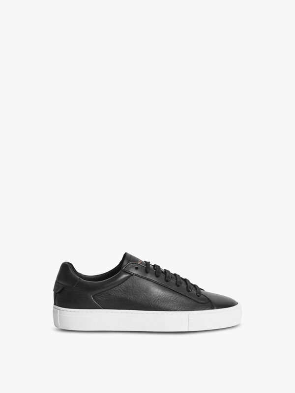 FINLEY Leather Contrast Sole Trainers