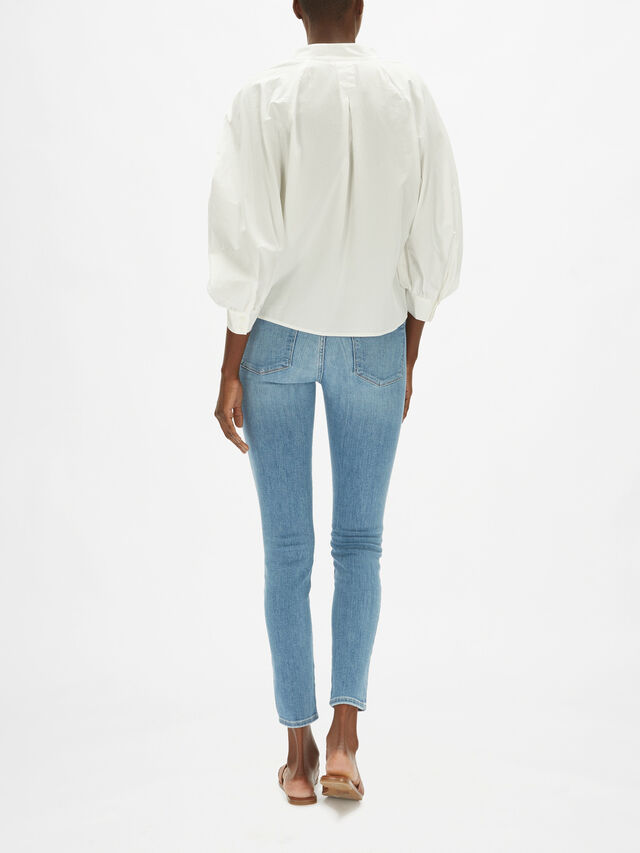 Ruched Cali Popover Top