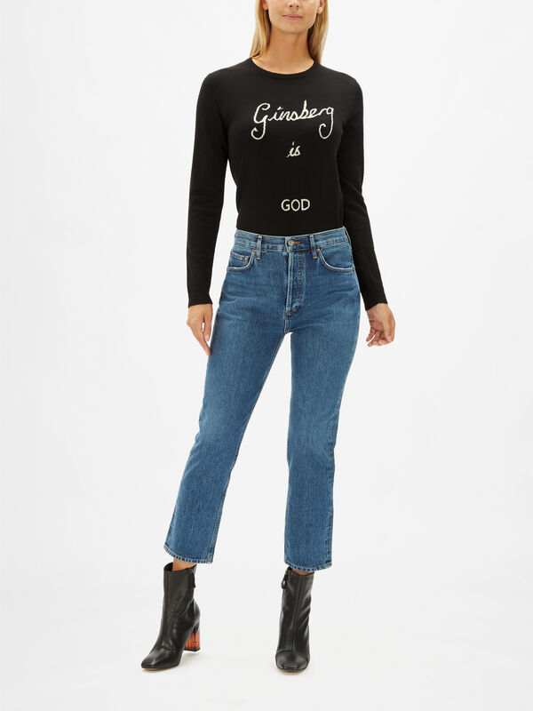 Riley Straight Cropped High-Rise Jeans