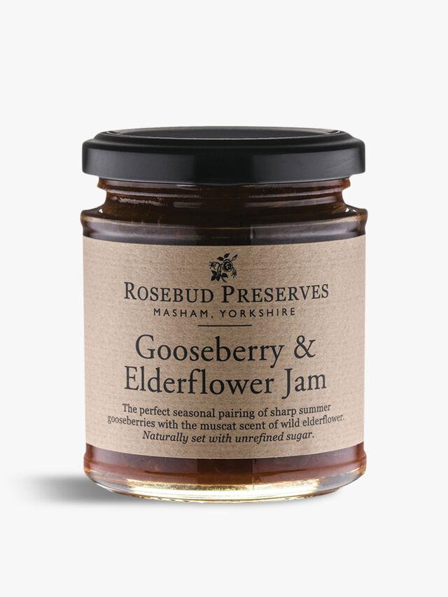 Gooseberry & Elderflower Jam 227g