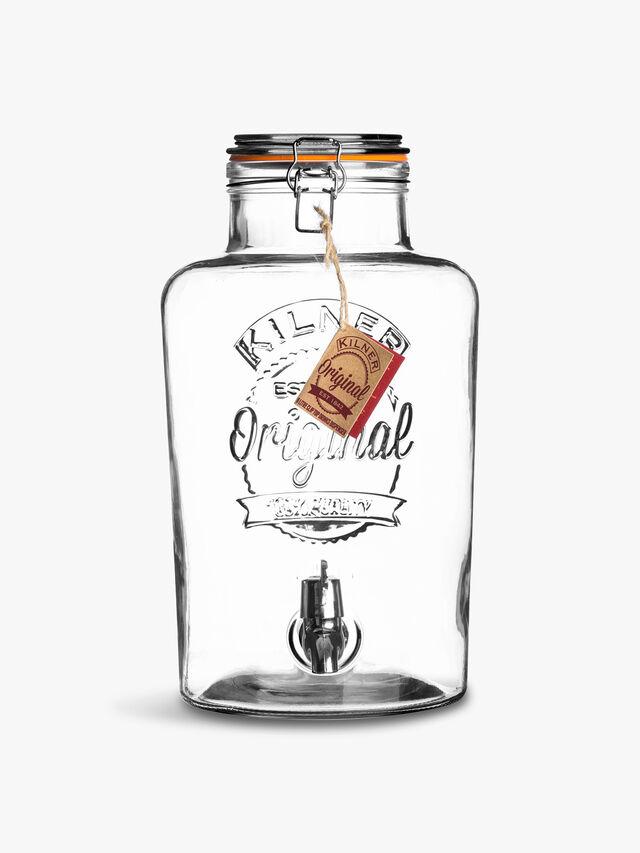 Clip Top Round Drinks Dispenser 5l
